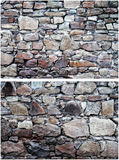 Two stone walls Stock Photo