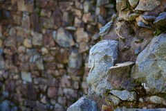 Two Stone walls softer back Stock Images