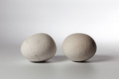 Two stones on white background Stock Images