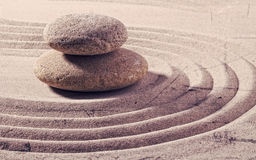 Two stones for zen flexibility and spirituality Stock Photography