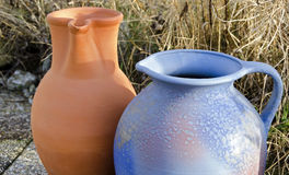 Two stoneware jugs Royalty Free Stock Images