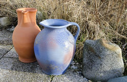 Two stoneware jugs Stock Photo