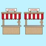 Two stores with plates. Two  stores with plates Royalty Free Stock Image