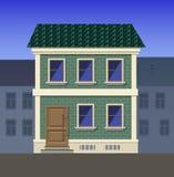 Two-storey baksteenhuis in een klassieke stijl Royalty-vrije Stock Foto