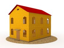 Two-storey house Stock Image