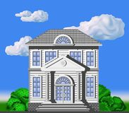 Two-storey house in classical style Royalty Free Stock Images