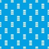 Two-storey huis met het grote naadloze blauw van het vensterspatroon Royalty-vrije Stock Foto