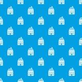 Two-storey huis met het naadloze blauw van het schoorsteenpatroon Stock Foto's