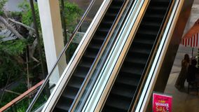 Two-storey shopping mall. Video in shift motion. Set 4 clips stock footage