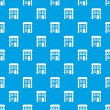 Two-storey woon naadloze blauw van het huispatroon Royalty-vrije Stock Afbeelding