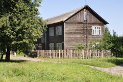 A two-storeyed wooden barrack. The Ivanovo area. A two-storeyed wooden barrack. Russia Royalty Free Stock Photography