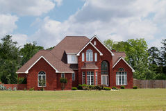 Two Story Brick Residential Home Stock Photo