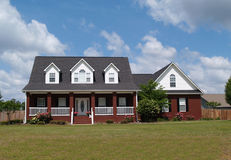 Two Story Brick Residential Home. Two story residential home with brick facade Stock Image