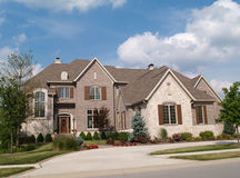 Two Story Brick and Stone Home Royalty Free Stock Photography