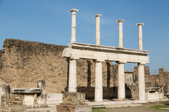 Two Story Columns in Pompeii Royalty Free Stock Images