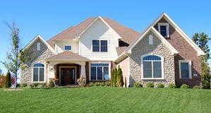 Two story home royalty free stock photos