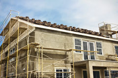 Two Story House Construction Stock Photos