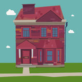 Two Story House Europe style at home. In settings vacation destinations, and small town streets with sky background Stock Photo
