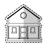 Two story house icon image. Illustration design Stock Photography