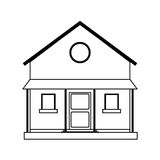Two story house icon image. Illustration design Stock Photos