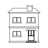 Two story house icon image. Illustration design Royalty Free Stock Photo