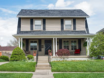 Two Story House with Open Porch Stock Photography
