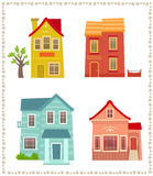 Two Story Houses Stock Image