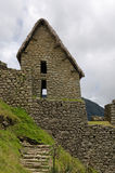Two-story Inca building at Machu Picchu Royalty Free Stock Image