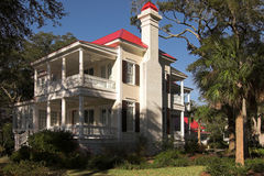 Two story mansion Stock Photo