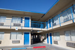 Two story motel with parking lot Royalty Free Stock Photo