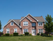 Two Story New Brick Residential Home stock photography