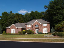 Two Story New Brick Residential Home royalty free stock photo