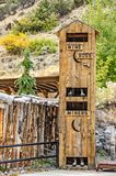 Two-story Outhouse for Miners. Which would you rather be...a miner or the mine boss stock photos