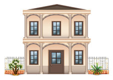 A two-story single detached building Royalty Free Stock Photo