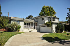 Two Story Single Family House With Driveway Stock Image