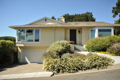 Two Story Single Family House With Driveway Stock Images