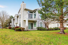 Two story townhome exterior royalty free stock photography