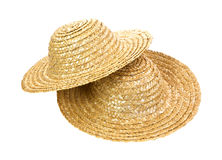Two straw hats Stock Images