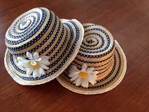 Two straw hats Royalty Free Stock Image
