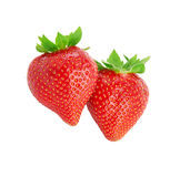 Two Strawberries . Stock Photos