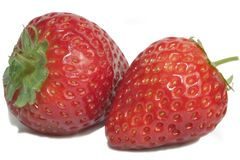 Two Strawberries Royalty Free Stock Photos