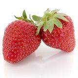 Two Strawberries Stock Photo