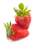 Two strawberries  Royalty Free Stock Photography
