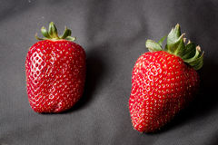 Two strawberries Stock Photo