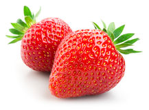 Free Two Strawberries Isolated On White Royalty Free Stock Photos - 76834208