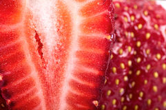 Two strawberries near closeup whole Stock Photo