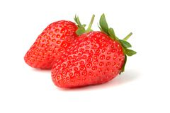 Two strawberry Stock Image