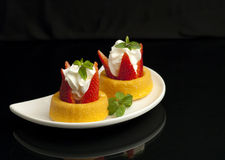 Two strawberry shortcakes. Stock Images