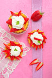 Two strawberry tarts Royalty Free Stock Images