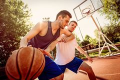 Basketball One On One royalty free stock image